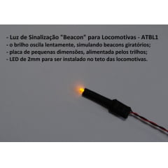Sinalizador Beacon para Locomotivas Escala HO